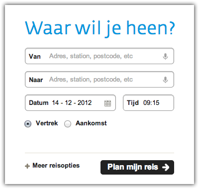 De 9292.nl website